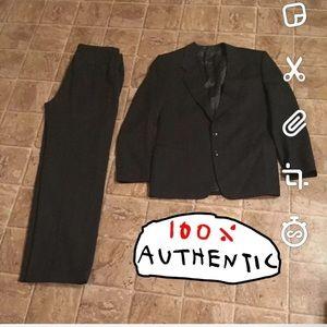 Authentic Giorgio Armani Men's Gray Wool Suit